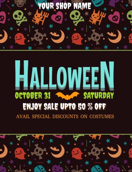 halloween, halloween flyer, halloween sale