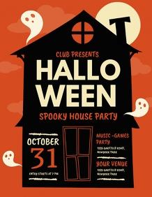 halloween, halloween flyer, haunted house