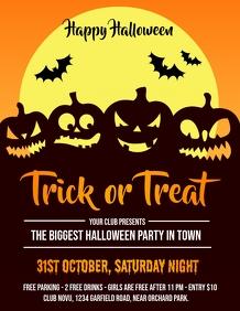 halloween, halloween flyer, pumpkin