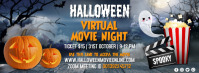 halloween, halloween movie night, movie Couverture Facebook template