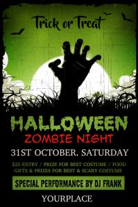 halloween, halloween poster,halloween zombie