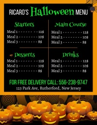 Halloween, Menu Flyer (US Letter) template