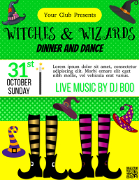 Halloween, Party Flyer (US Letter) template