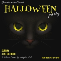 Halloween, Party Wpis na Instagrama template