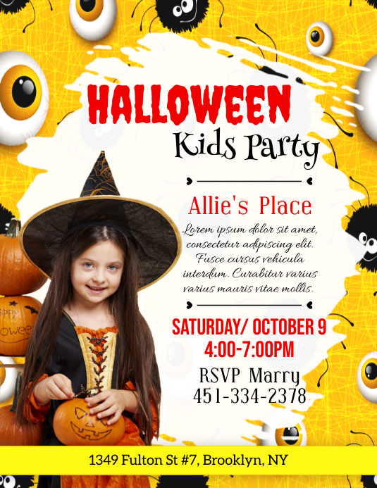 Halloween, Party Flyer (US-Letter) template