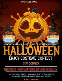 Halloween, party flyers, Halloween Flyers template