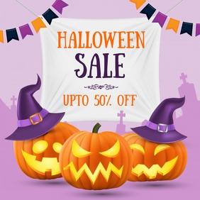 halloween, pumpkin carving, halloween sale Instagram Post template