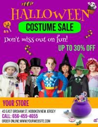 Halloween, Sale Flyer (US Letter) template