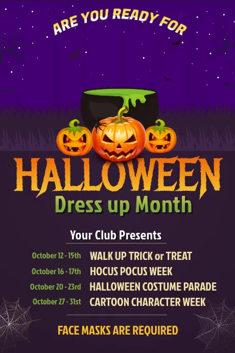 Halloween Event Video Poster Template Affiche