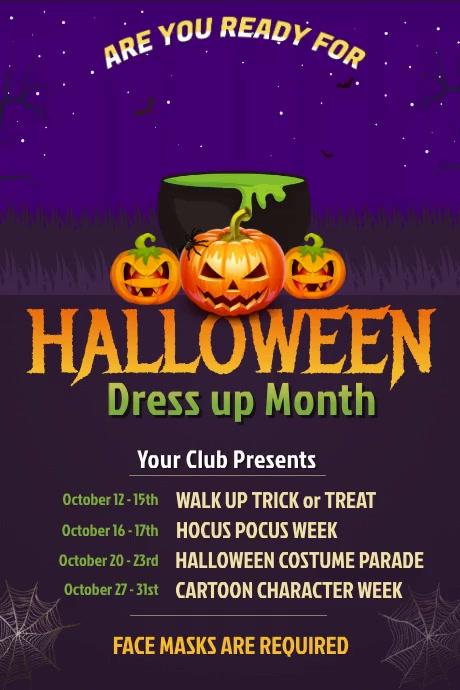Halloween Event Video Poster Template Plakat