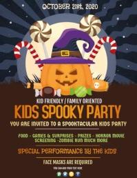 Halloween, Trick or treat, kids spooky Flyer (US Letter) template