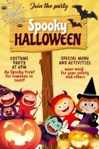 Halloween, trick or treat Plakat template