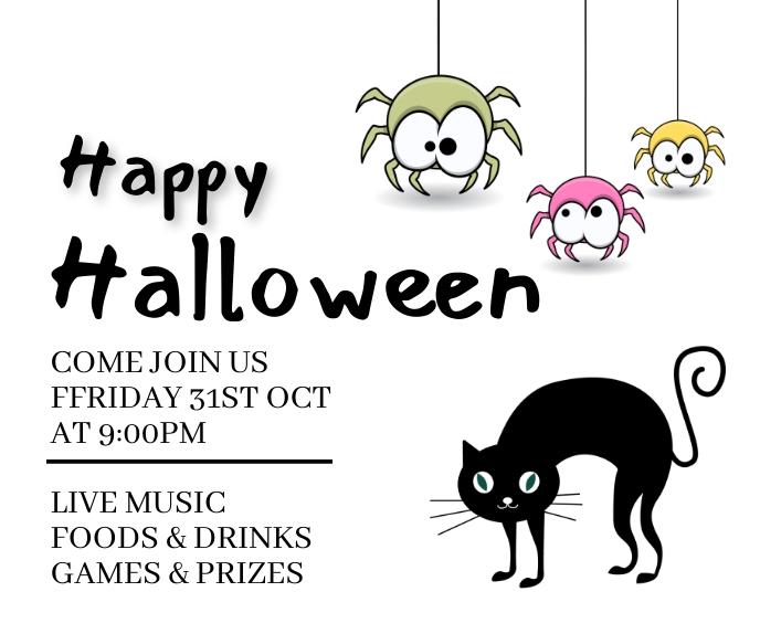 Halloween,Halloween sale,Halloween party Duży prostokąt template