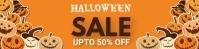 Halloween,Halloween sale,Halloween party Banner 2' × 8' template