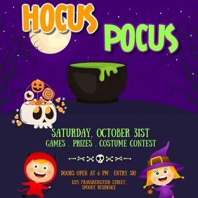 halloween , halloween party, trick or treat Cuadrado (1:1) template