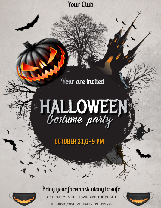 Halloween ,event flyer, party flyers template