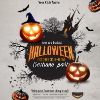 Halloween ,event flyer, party flyers Persegi (1:1) template