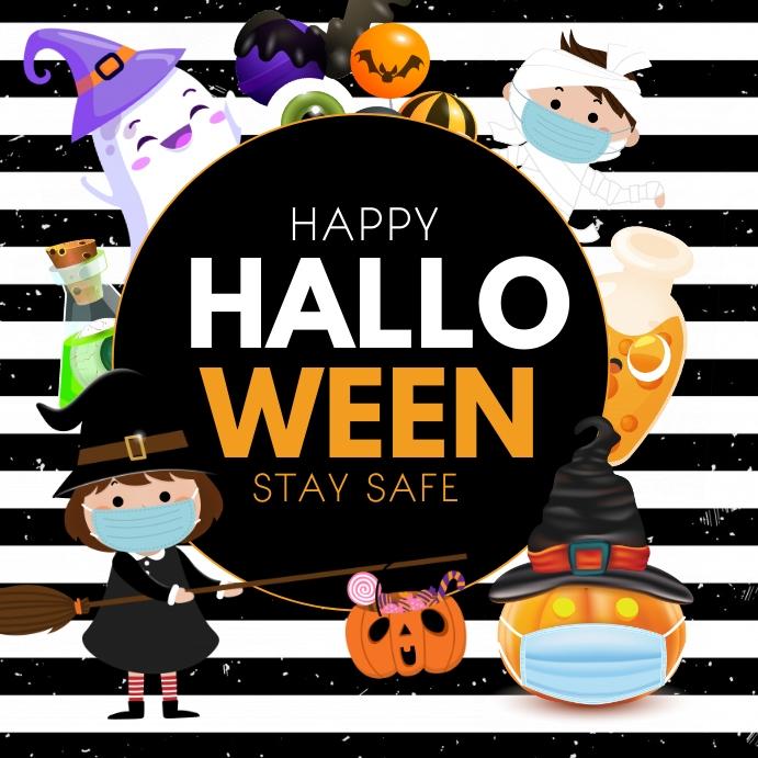 Halloween ,Happy Halloween Persegi (1:1) template
