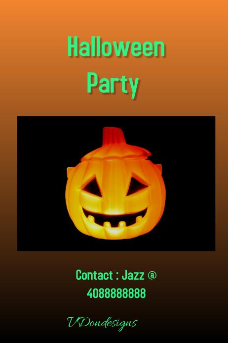 Halloween 03 Poster template