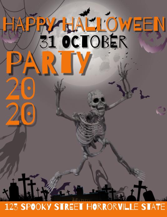 Halloween Template 2020 halloween 2020 Template   PosterMyWall