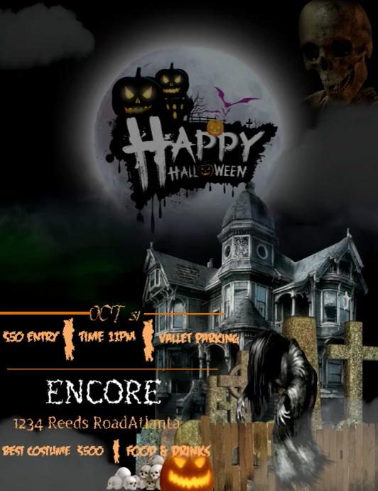 Halloween 2021 Flyer (format US Letter) template