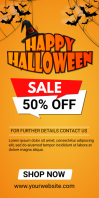 halloween 50% off sale 4X6 Roll Up Banner 3' × 6' template