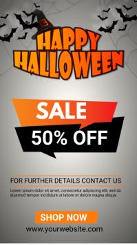 halloween 50% off sale Instagram Story template