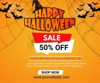 halloween 50% off sale Large rectangle Umugqa Omkhulu template