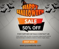 halloween 50% off sale Medium Rectangle template