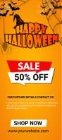 halloween 50% off sale Rack Card template