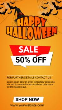 halloween 50% off sale whatsApp Status template