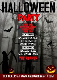 Halloween A6 template