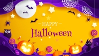 Halloween Ad Facebook Cover Video (16:9) template