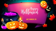 Halloween Ad Facebook-Covervideo (16:9) template