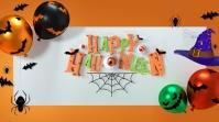 Halloween Ad Сообщение Twitter template