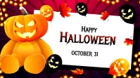 Halloween Ad Twitter-opslag template