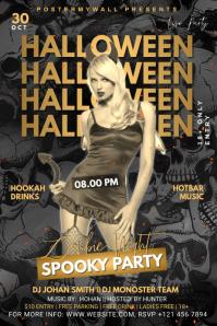 Halloween Ad Баннер 4' × 6' template