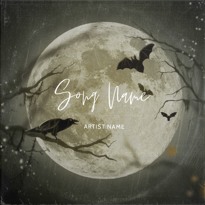 halloween Album cover Art template Portada de Álbum