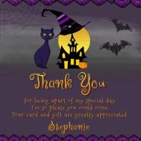 Halloween Baby Shower Haunted Invitation Instagram-Beitrag template