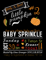 Customizable Design Templates For Baby Shower Invitation PosterMyWall - Halloween baby shower invitations