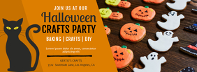 Halloween Bake Sale and Party Facebook Cover Template