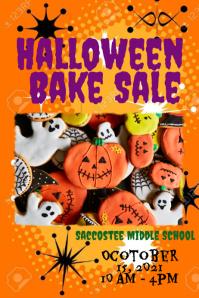 Halloween Bake Sale Poster template