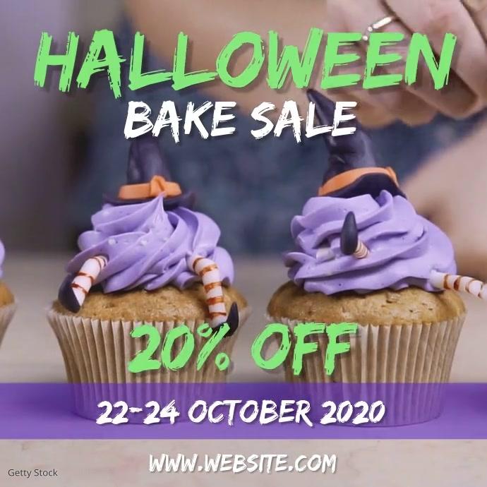 Halloween Bake sale Quadrato (1:1) template
