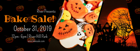 Halloween Bake Sale Facebook Cover template