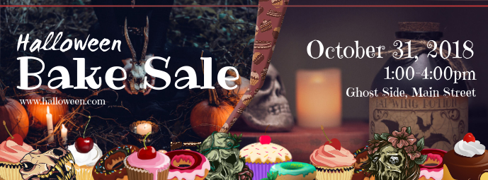 Halloween Bake Sale Facebook Cover Photo
