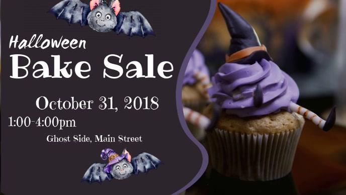 Halloween Bake Sale Facebook Cover Video