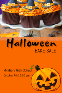 Halloween Bake sale Poster template