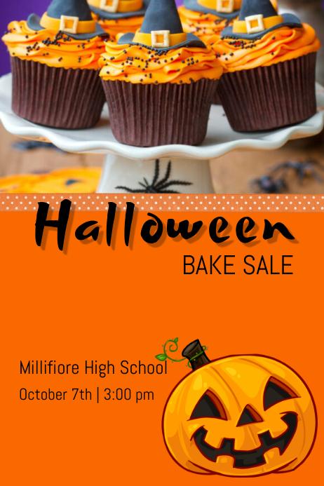 Halloween Bake sale โปสเตอร์ template