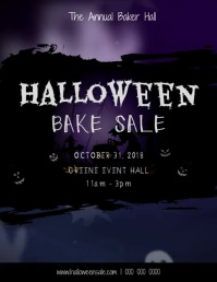 Halloween Bake Sale Ghost Video Flyer (US Letter) template