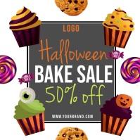 Halloween bake sale instagram template Square (1:1)